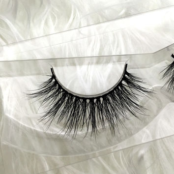 Free shipping premium 100% real siberian mink strip eyelashes 3D mink lashes miami lashes
