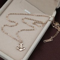 Anchor Shape Pendant Necklace by forevervintage on Zibbet