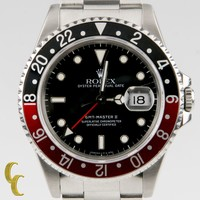 Rolex ♛ Men's Stainless Steel GMT Master II 16710 w/ Coke Bezel X Serial Number