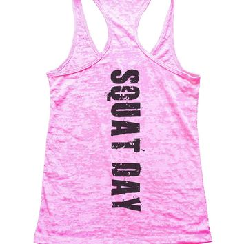 Squat Day Burnout Tank Top By Funny Threadz