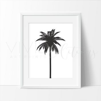 Palm Tree, Black