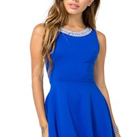 Beadneck Bow Back Flare Dress
