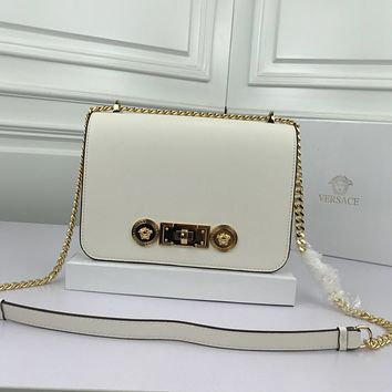 size 22*16*8 cm Versace women shoulder bags handbag Autumn and Winter new arrived white Leather Neverfull Tote Handbag Shoulder Bag Shopping Bags Purse Wallet