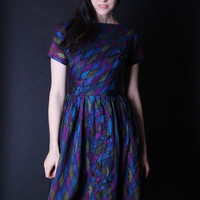 50s Cocktail Dress - 50s Dresses - Peacock Dress - 2844