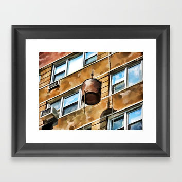 Bucket Framed Art Print by lanjee