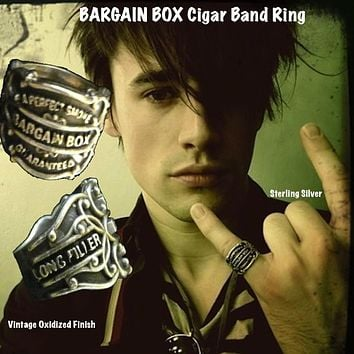 """Bargain Box"" Cigar Band Ring"