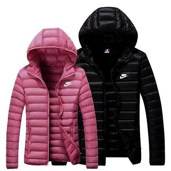 NIKE Winter Trending Women Men Stylish Print Lover Hoodie Zipper Cardigan Jacket Coat I/A