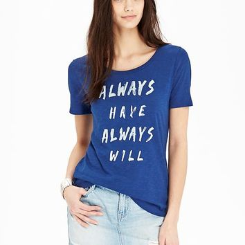Old Navy Womens Slub Knit Graphic Tees