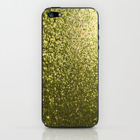 Gold Glitter Sparkle iPhone & iPod Skin by xjen94