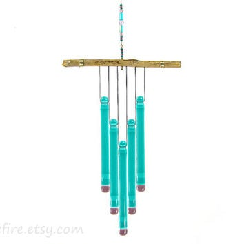 Teal and Purple Wind Chime,Teal Windchime, Teal Wind Chime