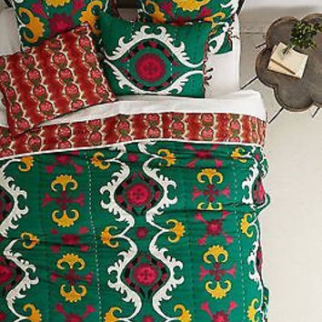 NWT Anthropologie Dalian Embroidered Quilt - Queen