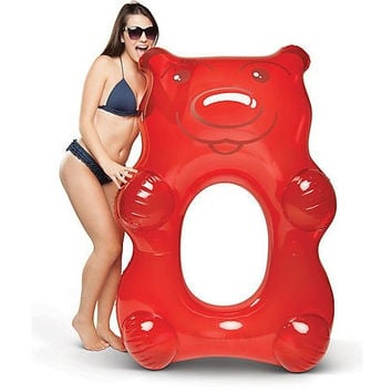 Giant Gummy Bear Pool Float - Red