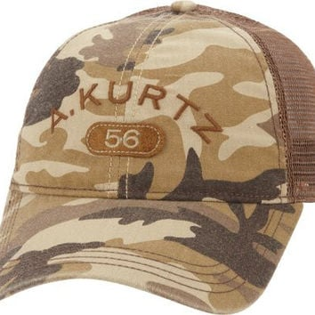 Kurtz Men's Arc Trucker Camo Cap Tan Baseball Hat (One Size Fits Most)
