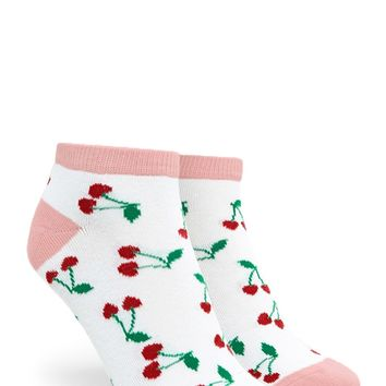 Cherry Print Ankle Socks