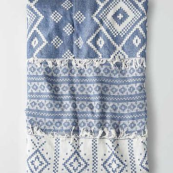 AEO Jacquard Beach Towel, Blue