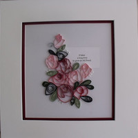quilled and matted wall art – ready to frame