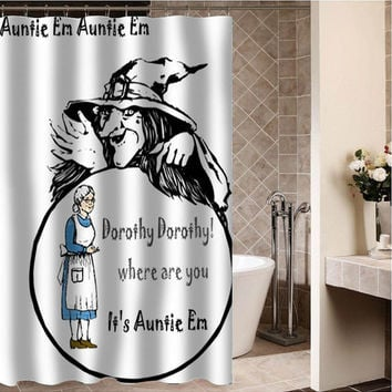 "the wizard of oz Custom Shower curtain,Sizes available size 36""w x 72""h 48""w x 72""h 60""w x 72""h 66""w x 72""h"