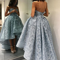 Sexy Full Lace Ball Gown Prom Dresses 2017 Sweetheart Sleeveless Evening Party Dresses Formal Gowns Vestido De Festa