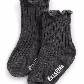 Eva & Elvin Shasha Socks in Charcoal