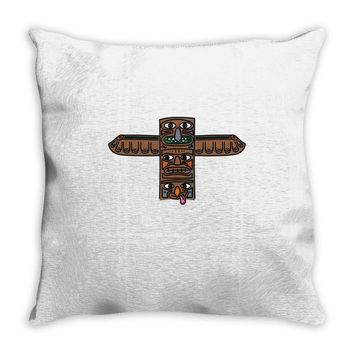 peter pan  indians logo Throw Pillow