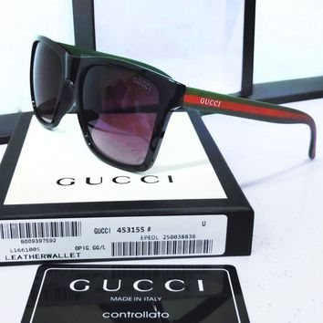 56cd22a3ab3 GUCCI Stylish Women Men Stripe Summer Sun Shades Eyeglasses Glas.