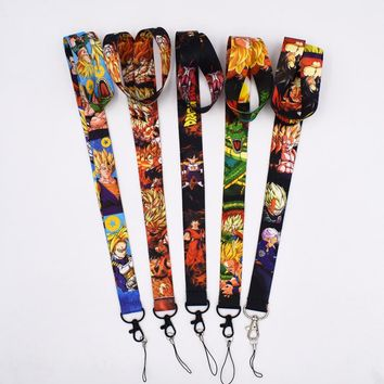 5Styles Cartoon Dragon Ball Z Lanyard Keys ID Neck Strap LanyardKeys MobilePhone Chain Neck Strap