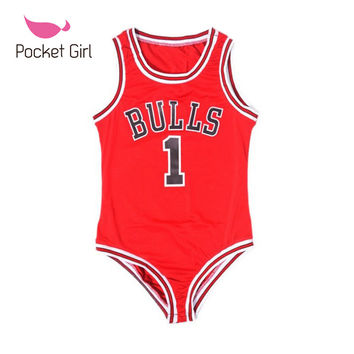 Chicago Bulls Bodysuit One Piece Swimsuit Beyonce Swimwear