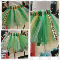 Green and gold football tutu - Green Bay Packers tutu - School Spirit tutu - any team - NfL