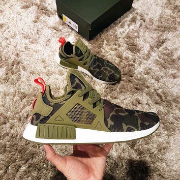 """Adidas"" NMD XR1 Duck Camo Women Men Running Sport Casual Shoes Sneakers Camouflage Army green"