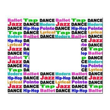 Dance Styles (#2) Rectangular Locker Frame