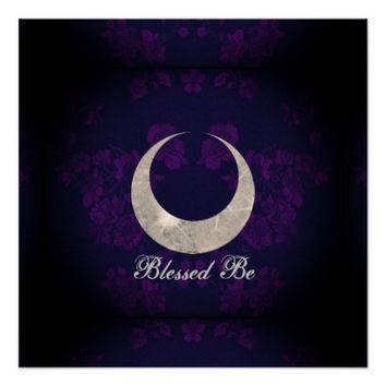 Witch Prim Horned Moon Goddess Poster