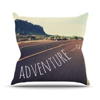 "Sylvia Cook ""Adventure"" Desert Road Throw Pillow"