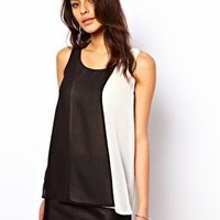 ASOS Vest With Double Layer Panels at asos.com