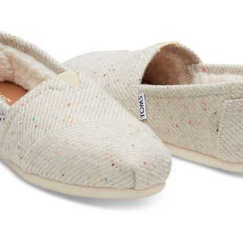 CREAM WITH RAINBOW FLECK WOOL WOMEN'S CLASSICS