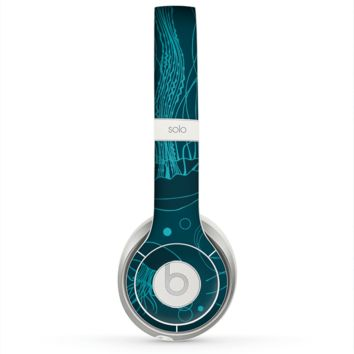 The Dark Vector Teal Jelly Fish Skin for the Beats by Dre Solo 2 Headphones