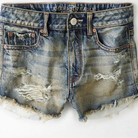 AEO Women's Hi-rise Festival Shortie (Medium Tinted Destroy)