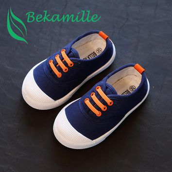 2017 New children shoes for kids sneakers baby boys and girls canvas sports shoes candy 5 colors