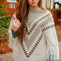Knitted Sweater Poncho