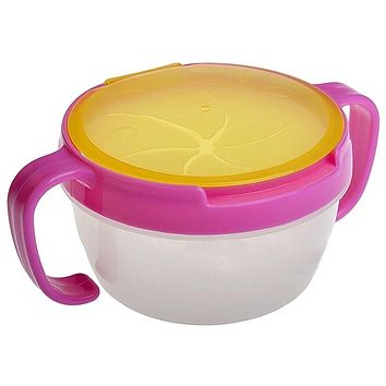 Double Handle Cup Biscuits Snack Spill-proof Bowl