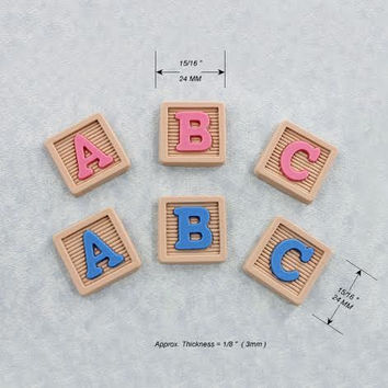 Baby Block Mold Resin Polymer Clay Candy Fondant Wax Baby Shower Cupcake Toppers (341}