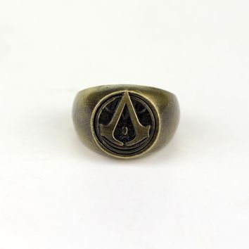 Assassins Creed Master Symbol Unique Design Skull Metal Top Quality Ring Cosplay Assassin's Creed Ring