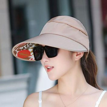 PEAP78W Hot Sun Hats Visor Hat for Women With Big Heads Beach Hats Summer UV Protection