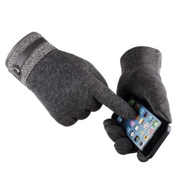 Men's cashmere gloves Touch screen couple gloves driving bicycle business casual style autumn and winter warm gloves
