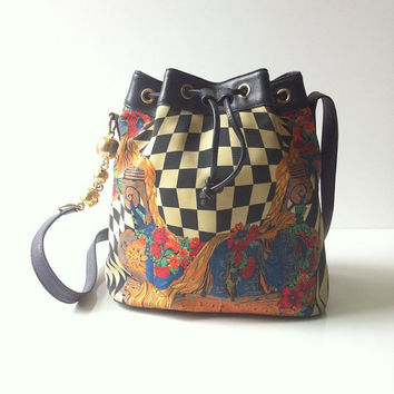 Vintage Gianni Versace Bucket Cross Body Bag