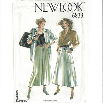 New Look 6893 Pattern for Misses' Skirts with Pocket or Pleats, Size 8 to 18, FACTORY FOLDED, UNCUT, From 1990s, British Vintage Pattern,