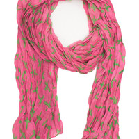 Sage Cross Scarf - Pink