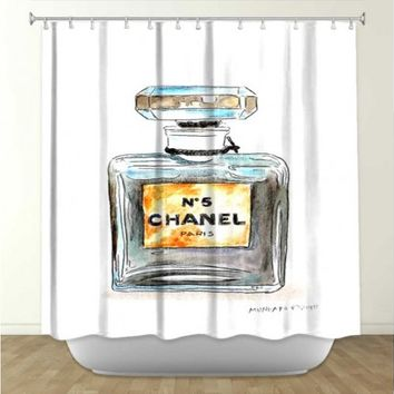 Artistic shower curtain | Marley Ungaro | Chanel No 5 | DiaNoche Designs