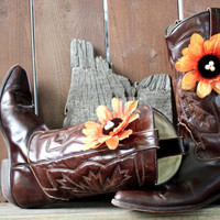 Cowboy Boot Flower shoe Clip - Boot Accessory Boot Decoration - Boot Charms Boho Floral Accessories Magnet Rain Boot Jewelry Clip - LugTugs