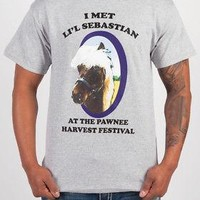 Parks and Recreation Li'l Sebastian Pawnee Horse Licensed Adult T-Shirt - Grey