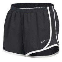 Monogrammed Girls Nike Running Shorts - Black Shorts with Black Sides and White Trim